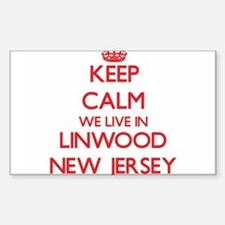 Keep calm we live in Linwood New Jersey Decal