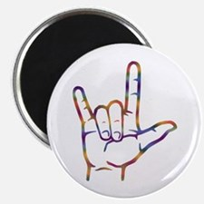 """Tiedye I Love You 2.25"""" Magnet (10 pack)"""