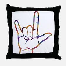 Tiedye I Love You Throw Pillow
