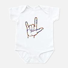 Tiedye I Love You Infant Bodysuit