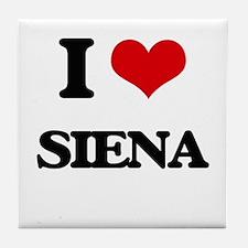 I Love Siena Tile Coaster