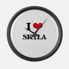 I Love Skyla Large Wall Clock
