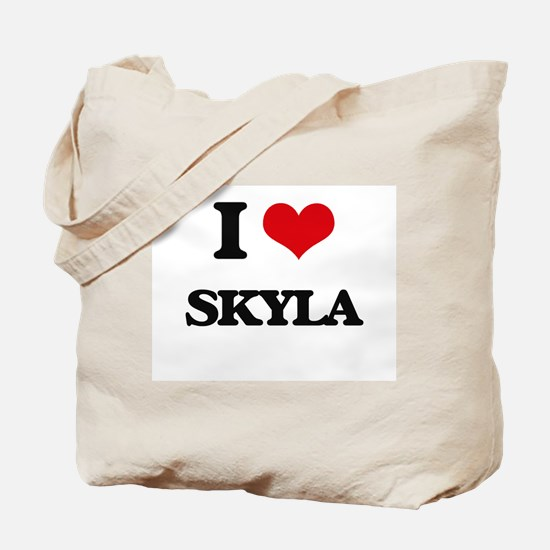I Love Skyla Tote Bag