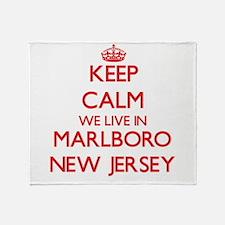 Keep calm we live in Marlboro New Je Throw Blanket