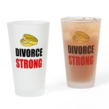 Divorce Strong Drinking Glass