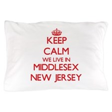 Keep calm we live in Middlesex New Jer Pillow Case