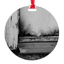 Abandoned Door Round Ornament