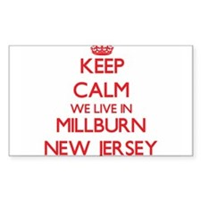 Keep calm we live in Millburn New Jersey Decal