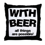 Beer Possibilities Throw Pillow