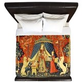 Lady and the unicorn Luxe King Duvet Cover