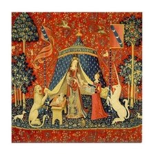 Lady and the Unicorn Medieval Tapestry Art Tile Co