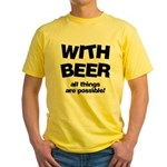 Beer Possibilities Yellow T-Shirt