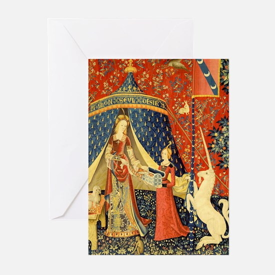 Lady and the Unicorn Medieval Tapestry Art Greetin