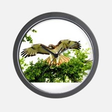 Texas Red Tail Hawk Wall Clock