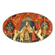 Lady and the Unicorn Medieval Tapestry Art Decal