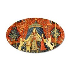Lady and the Unicorn Medieval Tapestry Art Wall De