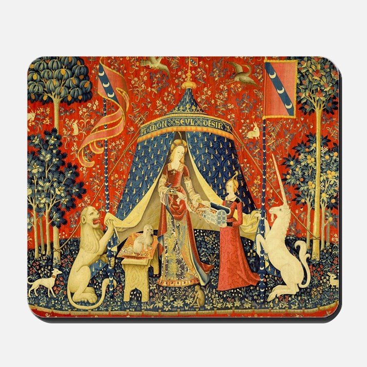 Lady and the Unicorn Medieval Tapestry Art Mousepa