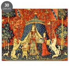 Lady and the Unicorn Medieval Tapestry Art Puzzle
