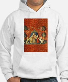 Lady and the Unicorn Medieval Tapestry Art Hoodie