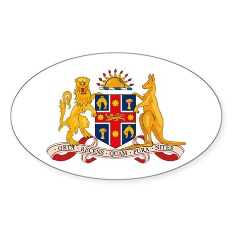 New South Wales Coat of Arms Oval Sticker