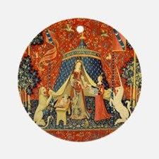 Lady and the Unicorn Medieval Tapestry Art Ornamen