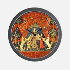 Lady and the Unicorn Medieval Tapestry Art Wall Cl