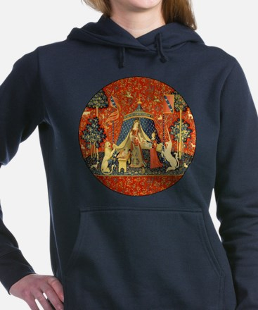 Lady and the Unicorn Medieval Tapestry Art Women's