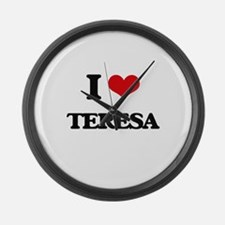 I Love Teresa Large Wall Clock