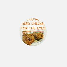 fried chicken lover Mini Button