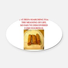 egg roll Oval Car Magnet