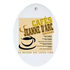 French Cafe Oval Ornament