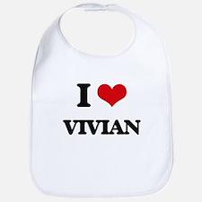 I Love Vivian Bib