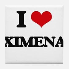 I Love Ximena Tile Coaster