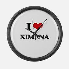 I Love Ximena Large Wall Clock