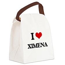 I Love Ximena Canvas Lunch Bag