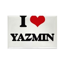 I Love Yazmin Magnets