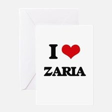 I Love Zaria Greeting Cards