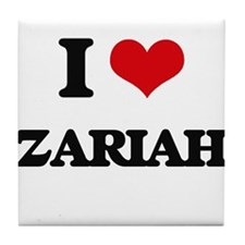 I Love Zariah Tile Coaster