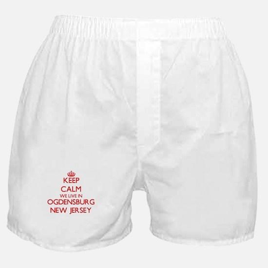 Keep calm we live in Ogdensburg New J Boxer Shorts