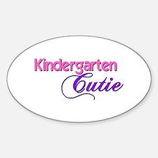 Kindergarten Cutie Oval Decal
