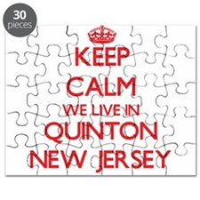 Keep calm we live in Quinton New Jersey Puzzle
