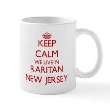 Keep calm we live in Raritan New Jersey Mugs
