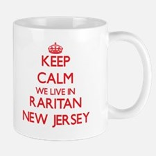 Keep calm we live in Raritan New Jersey Mugs