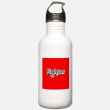Cancer Fighter Red Des Water Bottle