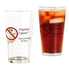 Stupid Cupid Drinking Glass