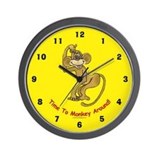 Monkey Wall Clock: Time To Monkey Around