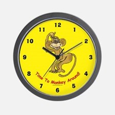 Monkey Wall Clock: Time To Monkey Around
