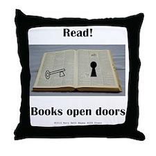 Books Open Doors Throw Pillow