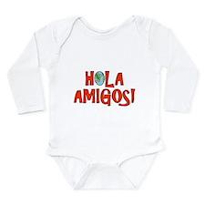 Funny Hello world Long Sleeve Infant Bodysuit