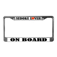 Sudoku Lover License Plate Frame